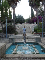 2018.09.09 A fountain and waterfall in a park in the Jewish neighbourhood Yemin Moshe in Jeruasalem