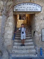 2018.09.10 Another welcome message for the Old Jaffa – and also in 3 languages (Hebrew, Arabic and English)