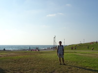 2018.09.10 In the green fields of Tel Aviv near the Mediterranean Sea and a very comfortable beach, where only sun loungers are paid