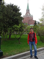 2019.04.27 In the Alexandrovsky Garden with the Trinity Tower of the Kremlin in the background.