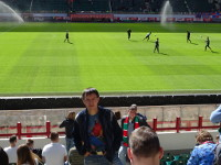 "2019.04.28 At the ""RZD Arena"" stadium during the break of a premier league match between the ""Lokomotiv"" and ""Enisei"" football club."