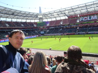 "2019.04.28 At the ""RZD Arena"" stadium during the 2nd half of a premier league match between the ""Lokomotiv"" and ""Enisei"" football clubs."