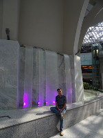 "2019.05.30 At the (plastic) waterfall in the ""Vnukovo"" airport."