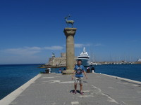 2019.05.31 The Colossus of Rhodes stood on these pillars above the entrance to the bay in a slightly different pose than I do. :-)