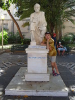 "2019.06.01 ""Me and great people"", particularly, Cleobulus – 1 of the 7 Sages of Greece and the ruler of Rhodes' Lindos."