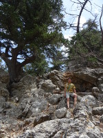2019.06.03 Climbing the rocks to the top of the mountain and the monastery (chapel) of Panagia Tsambika.