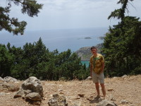 2019.06.03 Almost at top of the mountain where the monastery (chapel) of Panagia Tsambika is.