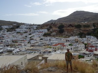 2019.06.03 With white houses of the Lindos town on the Rhodes in the background.
