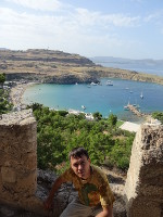 2019.06.03 With the Bay of Lindos (also heart-shaped) in the background (view #3).