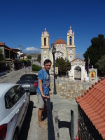 2019.06.04 With a picturesque (Orthodox?) church of the Rhodes in the background.