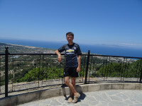 2019.06.05 On the Filerimos hill with a view to the Rhodes island and the Aegean Sea.