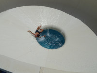 "2019.06.09 How I was ""flushed down the toilet"" :-O (in a water park)…"