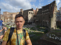 2019.10.03 Against the background of what remained of the (Transitorium) Forum of Nerva – the 4th of 5 imperial fora of Rome.