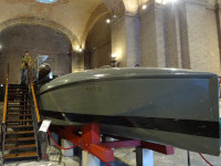 2019.10.03 Either a torpedo boat, or a submarine of the times either of the 1st World War, or of the 2nd one but definitely in the museum of the Italian army at the Vittoriano.