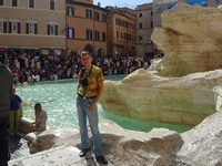2019.10.03 It's hard to take a picture without other people in the frame at the crowded Trevi fountain in Rome.