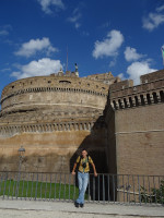 2019.10.03 The Сastle of the Holy Angel (Castel Sant'Angelo) from another, less remarkable side.
