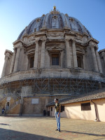 2019.10.03 On the roof of Saint Peter's Basilica (Basilica di San Pietro), with its main dome: I'm smaller, and the dome fits.