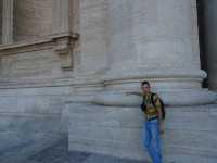 2019.10.03 At the foot of a column of Saint Peter's Basilica (Basilica di San Pietro) to understand its (and the cathedral's) size.