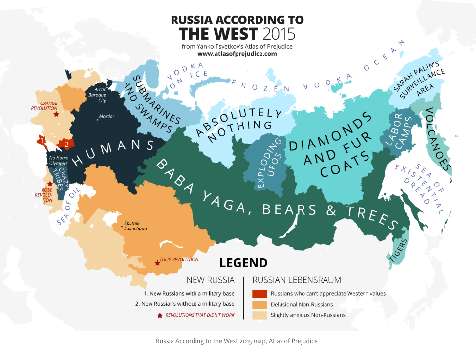 Russia According to the West 2015