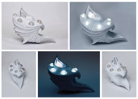 Atlantean Lights (1)  (3D modeling and printing by selective laser sintering)
