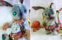 "Kutuzin the Hooligan Hare  (toy by the ""teddy"" technology, 18 cm)"
